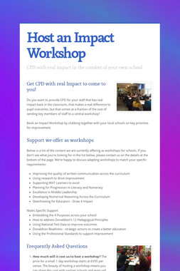 Host an Impact Workshop