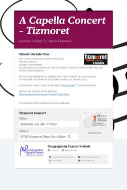 A Capella Concert - Tizmoret