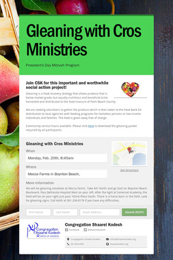 Gleaning with Cros Ministries