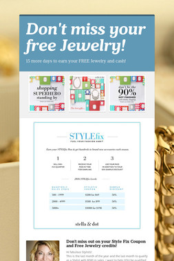 Don't miss your free Jewelry!