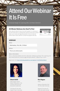 Attend Our Webinar It Is Free