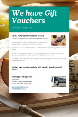 We have Gift Vouchers