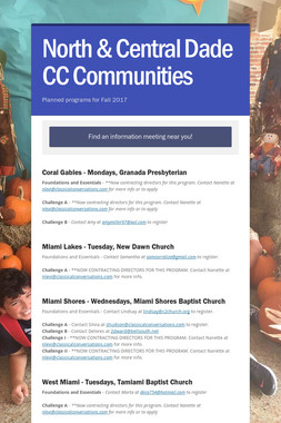 North & Central Dade CC Communities