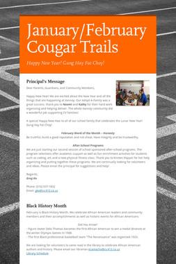 January/February Cougar Trails
