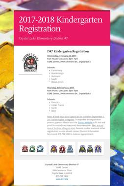 2017-2018 Kindergarten Registration
