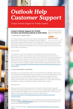 Outlook Help Customer Support