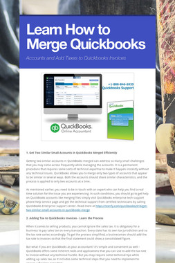 Learn How to Merge Quickbooks