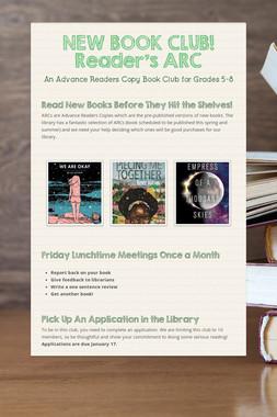NEW BOOK CLUB! Reader's ARC