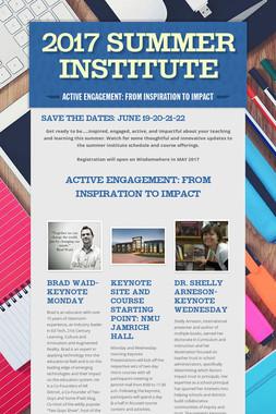 2017 Summer Institute