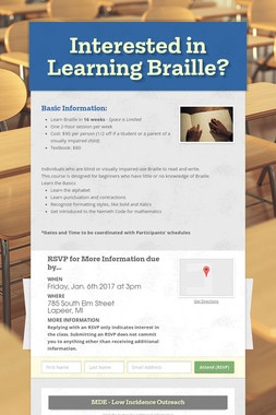 Interested in Learning Braille?