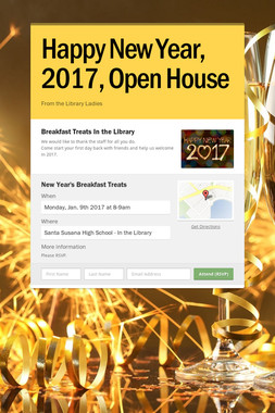 Happy New Year, 2017, Open House