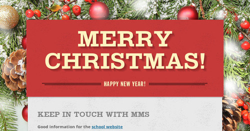 Merry Christmas! | Smore Newsletters for Education