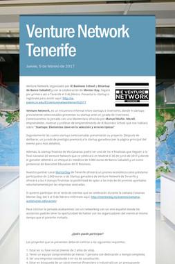 Venture Network Tenerife