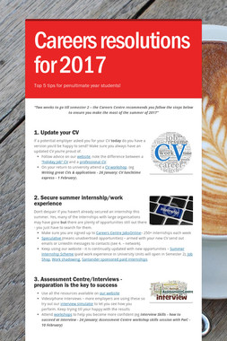 Careers resolutions for 2017