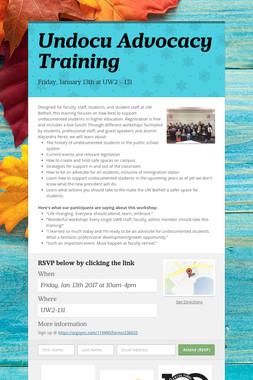 Undocu Advocacy Training