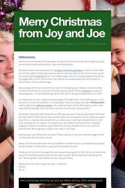 Merry Christmas from Joy and Joe