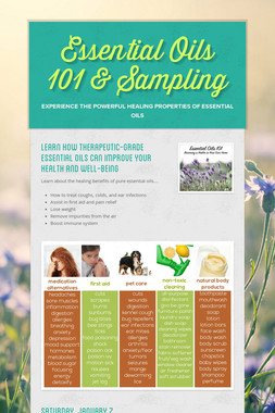 Essential Oils 101 & Sampling