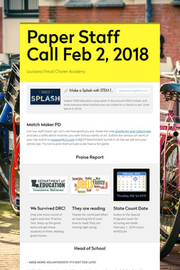 Paper Staff Call Feb 2, 2018