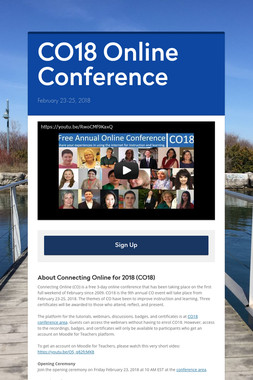 CO18 Online Conference