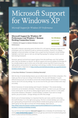 Microsoft Support for Windows XP