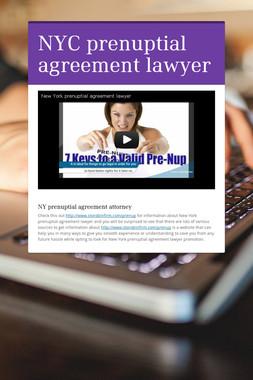 NYC prenuptial agreement lawyer