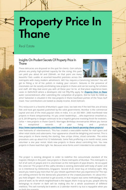 Property Price In Thane