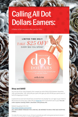 Calling All Dot Dollars Earners: