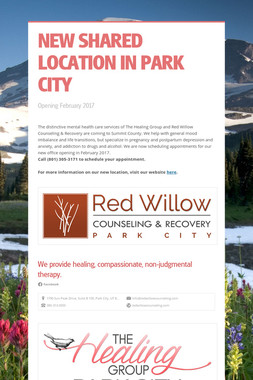 NEW SHARED LOCATION IN PARK CITY