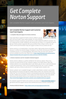Get Complete Norton Support