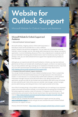 Website for Outlook Support