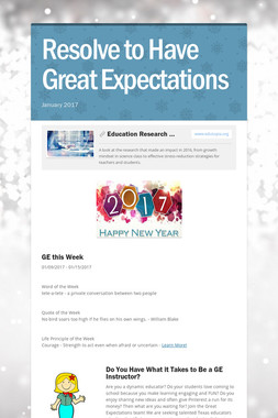 Resolve to Have Great Expectations