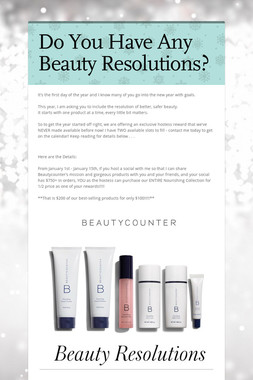 Do You Have Any Beauty Resolutions?