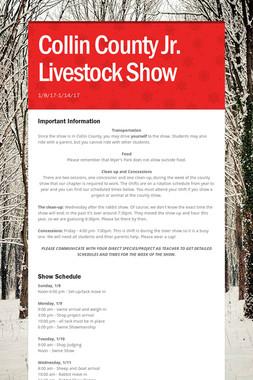 Collin County Jr. Livestock Show