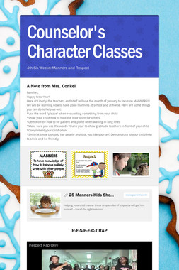 Counselor's Character Classes