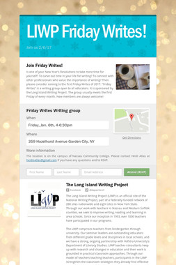 LIWP Friday Writes!