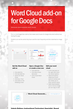 Word Cloud add-on for Google Docs