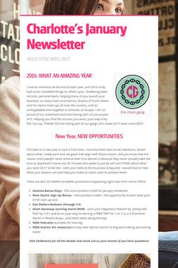 Charlotte's January Newsletter