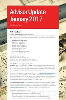 Advisor Update January 2017