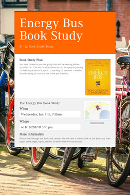 Energy Bus Book Study