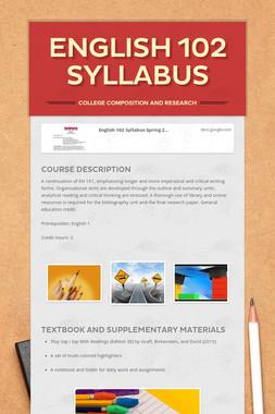 English 102 Syllabus