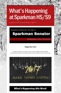 What's Happening at Sparkman HS/S9