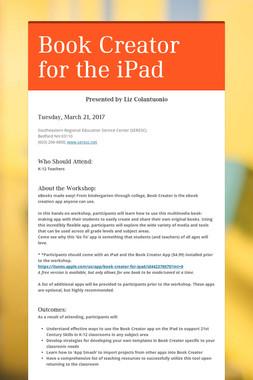 Book Creator for the iPad