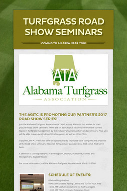 Turfgrass Road Show Seminars