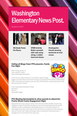 Washington Elementary News Post.