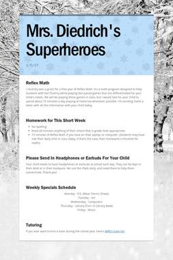Mrs. Diedrich's Superheroes