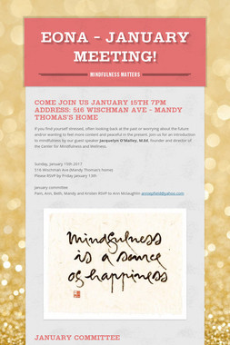 EONA - January Meeting!