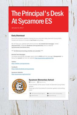 The Principal's Desk At Sycamore ES