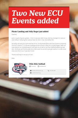 Two New ECU Events added
