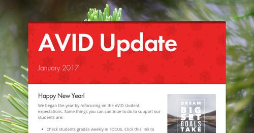 AVID Update | Smore Newsletters