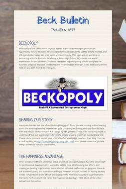 Beck Bulletin